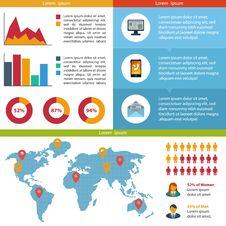 Free Business Infographic Flat Design. Stock Photos - 34006243