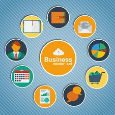 Free Business Infographic Flat Design. Stock Images - 34006534