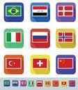 Free Flags Set Royalty Free Stock Photos - 34015168