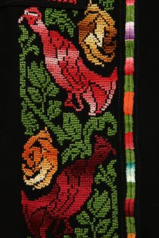 Embroidery By Needle Royalty Free Stock Images