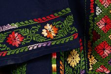Embroidery By Needle Stock Photography