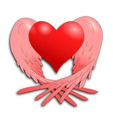 Free Flying Heart Royalty Free Stock Photography - 34012207
