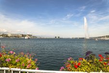 Geneva Water Jet Royalty Free Stock Photography