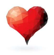 Free Triangles Heart Stock Images - 34013354