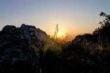 Free Mountain Sunrise Stock Photography - 34014702