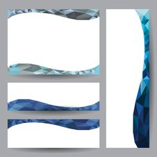 Template Card Blue Element Design Royalty Free Stock Images
