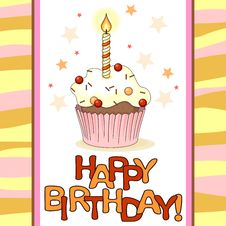 Free Birthday Card Stock Photography - 34019122