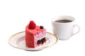 Free Cake With A Cup Of Tea Stock Photos - 34021113
