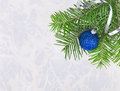 Free Christmas Ball With Fir-tree Twigs Royalty Free Stock Photography - 34025457