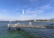 Geneva Water Jet Royalty Free Stock Photo