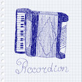 Free Accordion Drawing Stock Images - 34064694