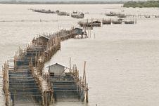 Free Fish Farming In Chantaburi Province, Thailand Royalty Free Stock Image - 34064986