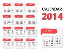 Free Calendar 2014 Stock Photo - 34066660
