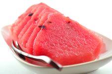 Watermelon Cut Stock Photography