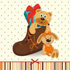 Free Shoes With Gifts Royalty Free Stock Photos - 34072558