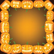 Free Pumpkin Frame Stock Photo - 34073420