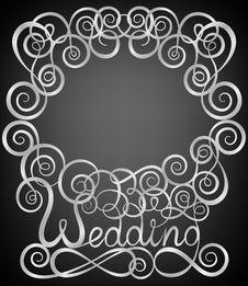 Free Silver Swirl Pattern Frame Royalty Free Stock Photos - 34073468