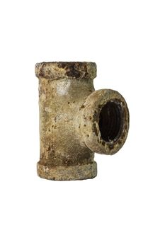 Free Old Drainpipe Three Way With Rust. Royalty Free Stock Images - 34074129