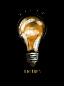 Big Idea Over Black Background Vector Illustration Stock Image