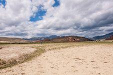 Free Desert Mountain Man Photographer Royalty Free Stock Photo - 34077245