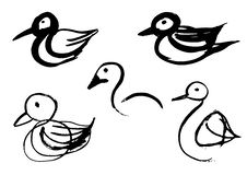 Free Bird Sketches Stock Images - 34077464