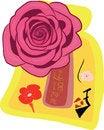 Free A Rose On Souvenir Bag Stock Photos - 34083383