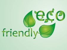 Free Eco Friendly Text Illustration Stock Photography - 34084982