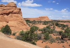 Free Scenic View In Arches National Park, USA Stock Photos - 34086563