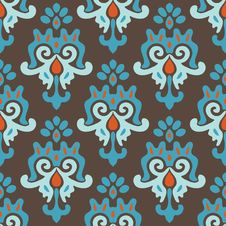 Free Seamless Damask Pattern Vector Tiles Royalty Free Stock Photo - 34088565