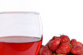Free Strawberries And Strawberry Wine Stock Photos - 34093723