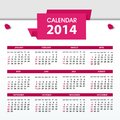 Free Calendar For 2014 Stock Images - 34095974