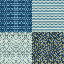 Set Of  Geometric Patterns. Stock Images