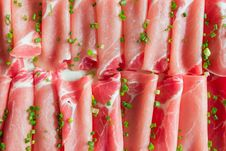 Thin Sliced Pork Meat Royalty Free Stock Photography