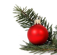 Free Red Bauble Royalty Free Stock Photography - 34094807