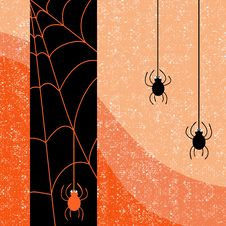 Free Halloween Spider Shabby Card Stock Photography - 34096292