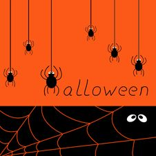 Free Halloween Spider Card Stock Images - 34096294