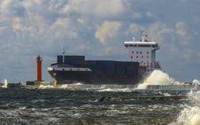 View On Sea Port Of Klaipeda Royalty Free Stock Photo