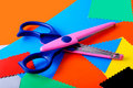 Free Colourful Paper And Scissors Stock Image - 3418101