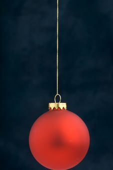 Free Christmas Decoration On Blue Stock Photo - 3410730