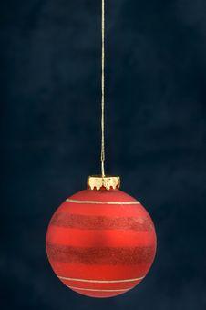Free Christmas Decoration On Blue Royalty Free Stock Photo - 3410735