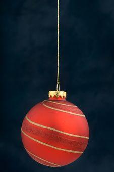Free Christmas Decoration On Blue Royalty Free Stock Photo - 3410745