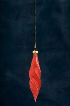 Free Christmas Decoration On Blue Stock Photography - 3410752