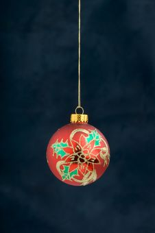 Free Christmas Decoration On Blue Stock Photos - 3410763