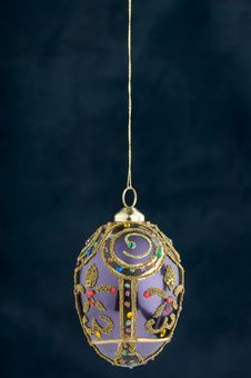 Free Christmas Decoration On Blue Royalty Free Stock Images - 3410779