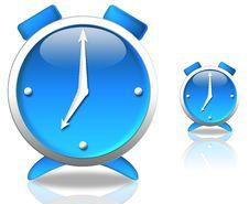 Blue Clock Royalty Free Stock Photo