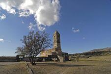 Romanesque Abbey Stock Photography