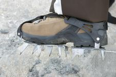 Free Boot With Crampons Stock Images - 3411634