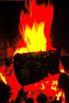 Free Log Fire Royalty Free Stock Photos - 3411758