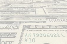 Free One Hundred Dollars Banknotes Royalty Free Stock Photography - 3411827