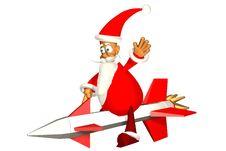 Flying Santa Royalty Free Stock Image